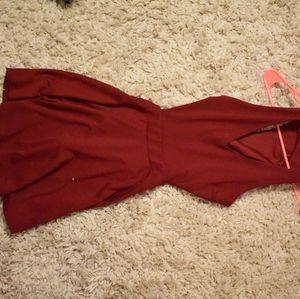 Red Mini Skater Dress